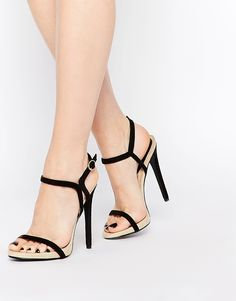 Daisy Street Barely There Two Part Heeled Sandals