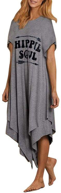 ZANZEA Women Fish Printed Top Tee T Shirt Empire Waist Babydoll Pullover Blouse