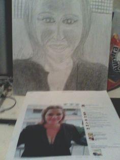 Dibujo a lapíz sobre cartoncillo de Celesto Ortega. por M.R.R.