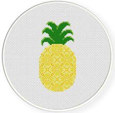 My+Pineapple+PDF+Cross+Stitch+Pattern+Needlecraft++Instant