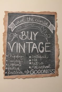 buy vintage chalkboard sign via elizabeth and co