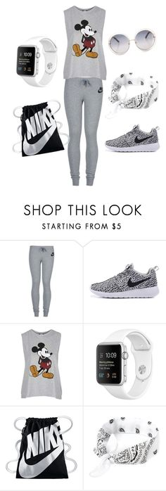 """""""Untitled #5"""" by em03071999 ❤ liked on Polyvore featuring NIKE and Topshop"""
