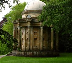 prettymindclutter: Temple of Apollo at Stourhead by Julie Bozarth.