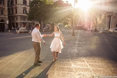 A bright example of Rome wedding photography taken by Artur Jakutevich. Find photographer in Italy and Rome for your engagement, wedding or honeymoon.