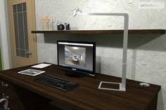 domácí pracovna - masivní dřevo, dýha a kůže - návrh interiéru  Petr Molek - Designer