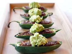 Chili Pepper Poppers with Smashed Avocado