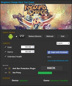 We are now able to present Kingdoms Charge hack tool for android ios and all devices ! This hack can generate for your game free : Gold, Gems and