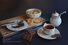 Chocolate tea and Cookies by EsterHovhannisyan #food #yummy #foodie #delicious #photooftheday #amazing #picoftheday
