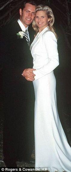 Christie Brinkley & Peter Cook  on their wedding day in 1996