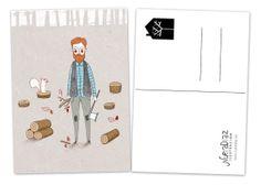 Postcard Lumberjack by NuriaDiazShop on Etsy, €2.00