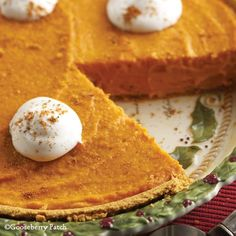 Gooseberry Patch Recipes: New England Pumpkin Pie