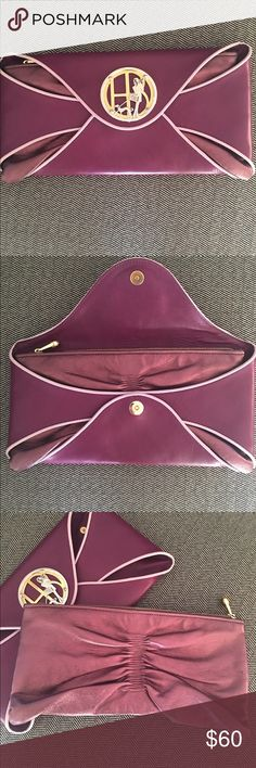 Henri Bendel 2 in 1 Clutch! Purple 2 in 1 Henri Bendel Clutch. Has two different looks to dress up or down! henri bendel Bags Clutches & Wristlets