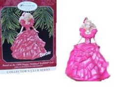 1998 HALLMARK Holiday Barbie Collector Club Based on 1990 Doll