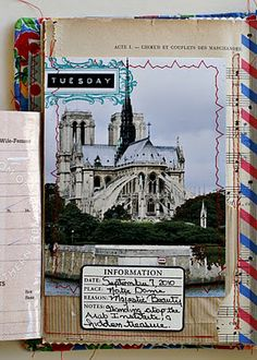 Another gorgeous travel journal - I encouraged the girls to do the same.  They kinda did!!