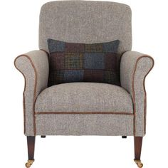 Beautiful chair - choose from range of Harris Tweed wools piped in premium leather-  hardwood frame #tetrad @baylissandbooth #harrisweed #furniture #quality #home #interiordesign #isleofwight #areyousittingcomfortably by baylissandbooth