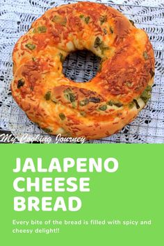 Jalapeno and Cheese Bread - A delicious braided bread baked in a bundt pan is loaded with cheese and jalapenos in every bite. Cooking Bread, Easy Cooking, Bread Baking, Cooking Recipes, Quick Bread Recipes, Healthy Recipes, Cheese Recipes, Enchiladas, Jalapeno Cheese Bread