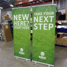 Ezra Church helps guests get started and take the next steps with economy retractable banners! Retractable Banner, Portable Display, Banner Stands, Church Banners, Kiosk, Stand Up, Service Design, Desks, Paper Shopping Bag