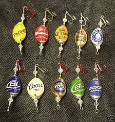 Bottlecap fishing lures. I know what i'm making my dad =)
