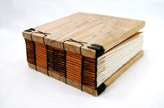 stunning wooden hand bound book in spalted maple by threetreesbindery