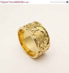 Sovereign Ring, Gold Signet Ring, Alexander The Great, Coin Signet Ring,  Man Solid Gold ring, Gold Pinky Ring, Chevalier Ring