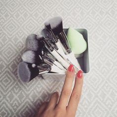 Simple yet adorable makeup storage from MariaBaszak ❤ #Nanshy #makeup