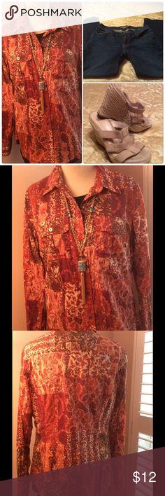 Lucky Brand Long Sleeve Shirt Lucky Brand Button Front Shirt. Lucky Brand Tops Button Down Shirts