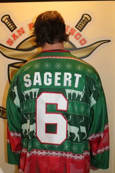 2013 San Francisco Bulls USED Ugly Sweater Specialty Jersey: Kalvin Sagert