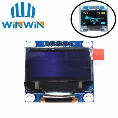 "1 stücke 0,96 ""gelb blau 0,96 zoll OLED modul Neue 128X64 OLED LCD Led-display-modul 0,96"" IIC I2C Kommunizieren"