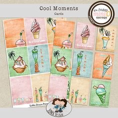 SoMa Design: Cool Moments - Cards Mini S, Digital Scrapbooking, In This Moment, Cool Stuff, Comics, Cards, Kit, Design