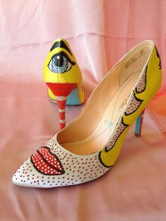 Hey, I found this really awesome Etsy listing at https://www.etsy.com/listing/159291021/modern-art-high-heel-roy-lichtenstein