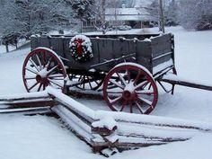 Snowy Christmas Wagon, Warrenton, MO