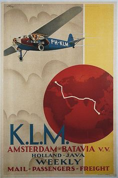 KLM Amsterdam Poster