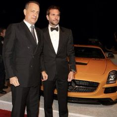 Tom Hanks and @_bradleycooper_  arrived in style with the #SLS #AMG yesterday at the 25th #PSIFF Awards Gala.  #mercedes #benz #instacar