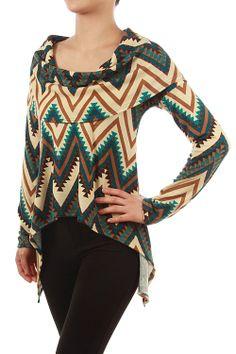 Missoni Asymmetrical Fold-Over Neckline Top: Katybrooke Boutique