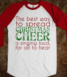 Elf Singing shirt @Kelly Teske Goldsworthy Teske Goldsworthy Holt this is so you!!!
