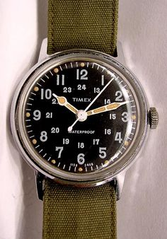 Vintage Timex Watch Watches Military Marlin 50s Diver