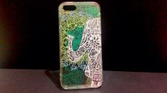 Indian elephant zentangle bluish green iPhone 5/5s case    By Lam Esther Yuen Ching