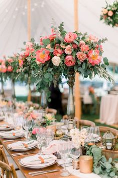 """""""Love is a flower you've got to let grow""""- John Lennon. Bookings are open for wedding season For booking details call us at: 0321 9999519 You can also visit us at 13 KM Multan road adjacent to Thokar Niaz Baig flyover. Coral Wedding Centerpieces, Tall Flower Centerpieces, Long Table Centerpieces, Peonies Centerpiece, Blue Coral Weddings, Coral Wedding Colors, Floral Wedding, Wedding Flowers, Wedding Rustic"""