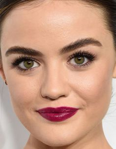 Close-up of Lucy Hale at the 2016 ELLE Women in Hollywood Awards.