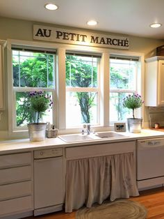 A Farmhouse Kitchen ~ Painted Counters {Before