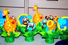 Center pieces for birthday parties - Jungle / Animal Theme