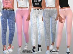 The Sims Resource: Kylie Pajama Pants Collection by Pinkzombiecupcakes • Sims 4 Downloads