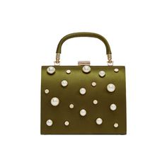 Zara Green Pearl Purse 800