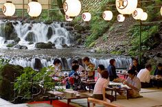 Japan - Summertime lunch above the Kibune River in Kyoto