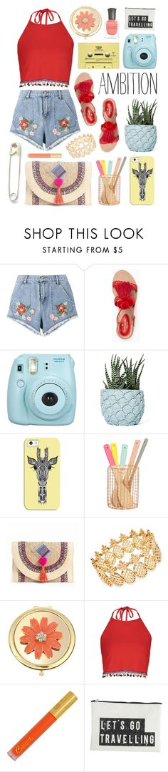 """""""Summer Ambition"""" by pauirh ❤ liked on Polyvore featuring House of Holland, Kate Spade, Fujifilm, CASSETTE, Chen Chen & Kai Williams, Casetify, INC International Concepts, Liz Claiborne, Boohoo and House Doctor"""