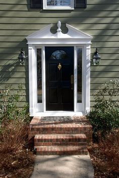 1000 Images About Front Door Pediment On Pinterest Hip Roof Interior Design Blogs And