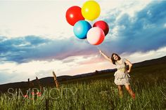 senior photo. I like the balloons as a prop: