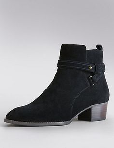 Stain Away™ Suede Ankle Boots with Insolia® | M&S