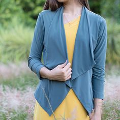 Take your look to the next level with this lapel sleeve jacket. The trench jacket is perfect for you in fall and this trench jacket features lapel collar. Trench Jacket, Collars, Kimono Top, Sleeves, Sweaters, Jackets, Tops, Women, Fashion