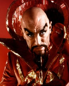 "Max von Sydow as Ming the Merciless in a publicity still for Flash Gordon (1980): ""I like to play with things a while before annihilation."""